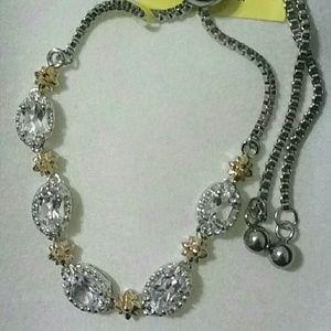 Jewelry - White Topaz Adjustable Bracelet